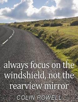 focus on windshield not mirror